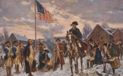 Washington at Valley Forge. Credit Line: Library of Congress Prints and Photographs Division, LC-USZC2-3793.